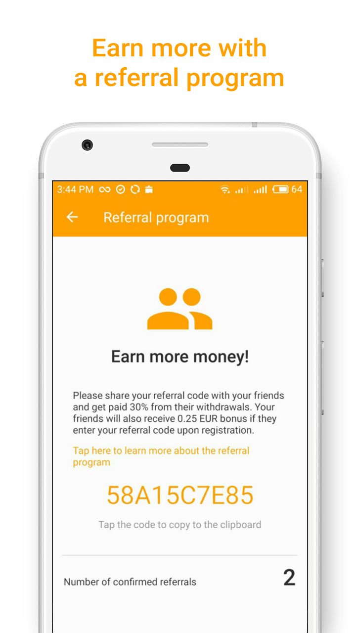 Money SMS app - Earn more with a referral program - screenshot