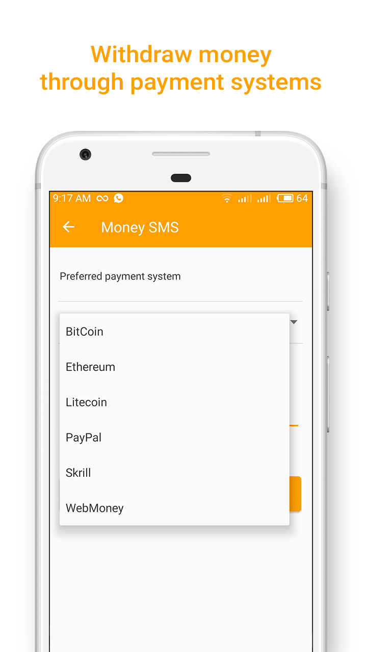 Money SMS app - Withdraw money through payment systems-min-screenshot