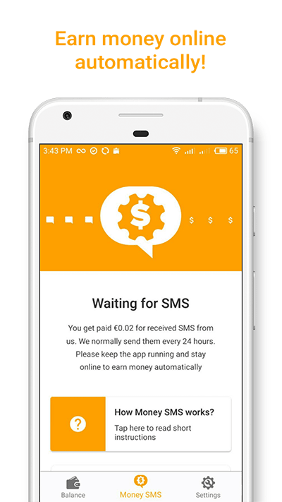 Earn money online automatically Money SMS-min screenshot