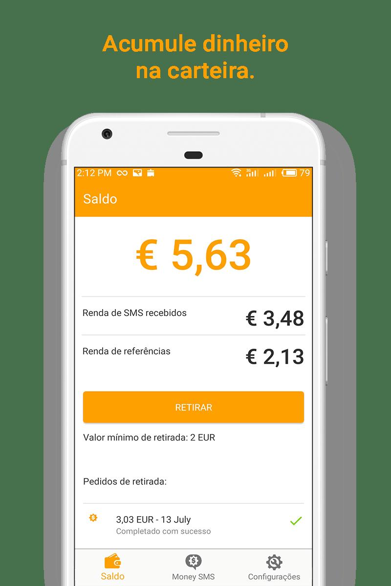 Money SMS app - Acumule dinheiro na carteira. - 03- picture