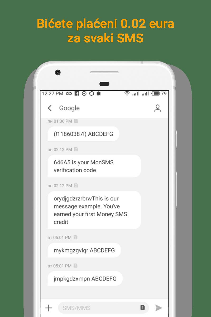 Money SMS app -Bićete plaćeni 0.02 eura za svaki SMS - 02-screenshot