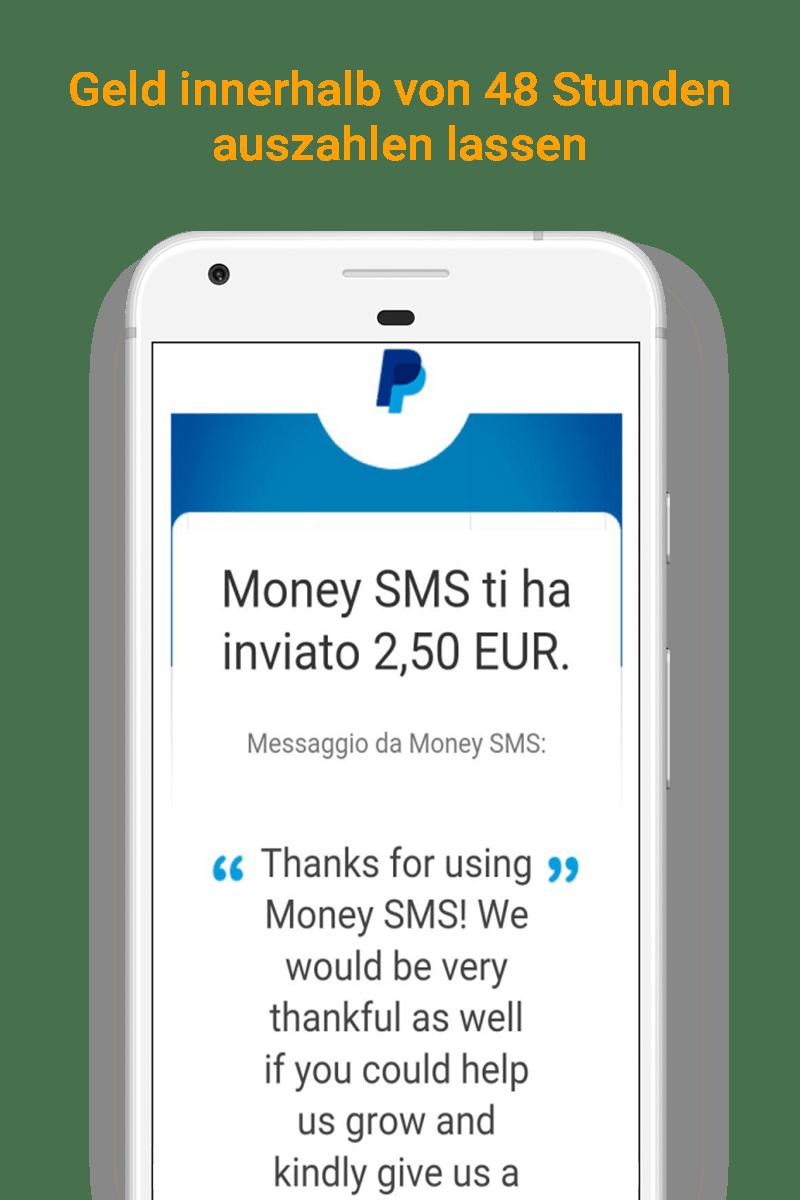 Money SMS app - Geld innerhalb von 48 Stunden auszahlen lassen - 09-screenshot