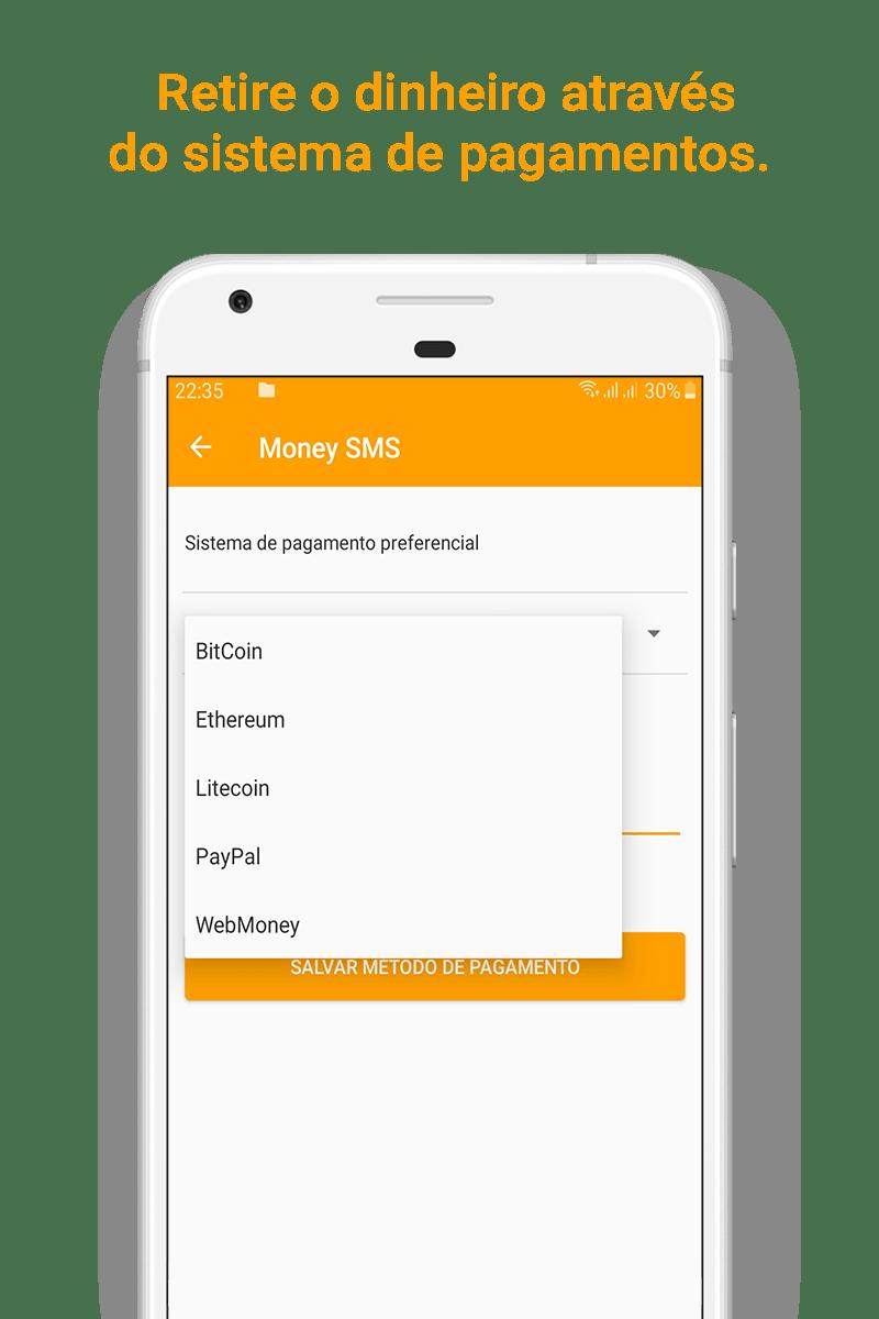 Money SMS app - Retire o dinheiro através do sistema de pagamentos. - 05-picture