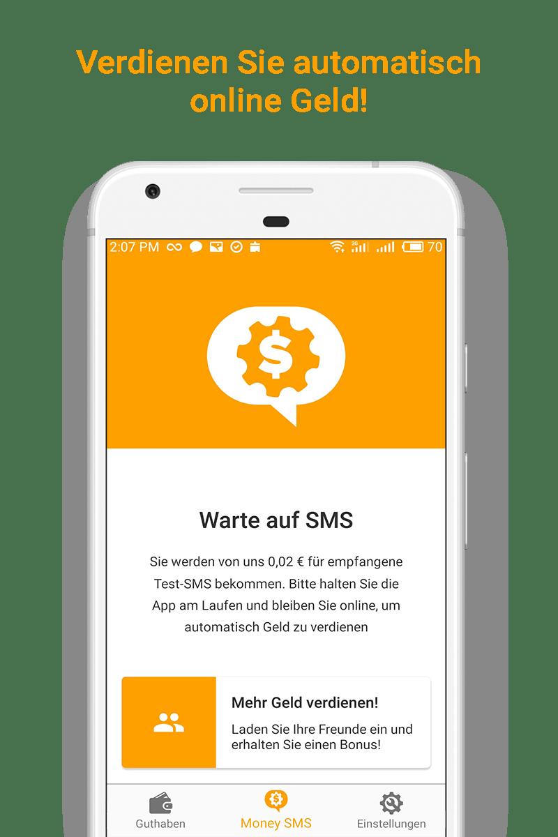 Money SMS app - Verdienen Sie automatisch online Geld! - 01-screenshot