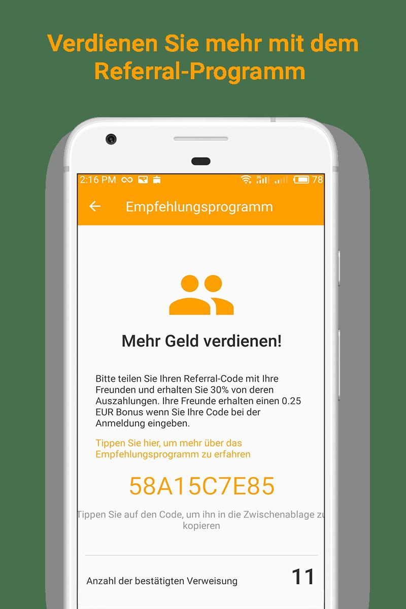 Money SMS app - Verdienen Sie mehr mit dem Referral-Programm - 04-screenshot