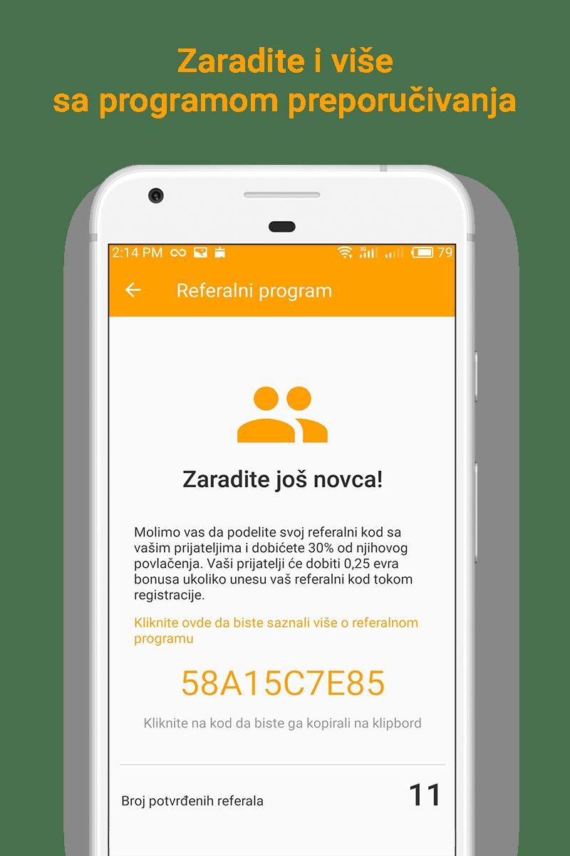 Money SMS app - Zaradite i više sa programom preporučivanja - 04-screenshot