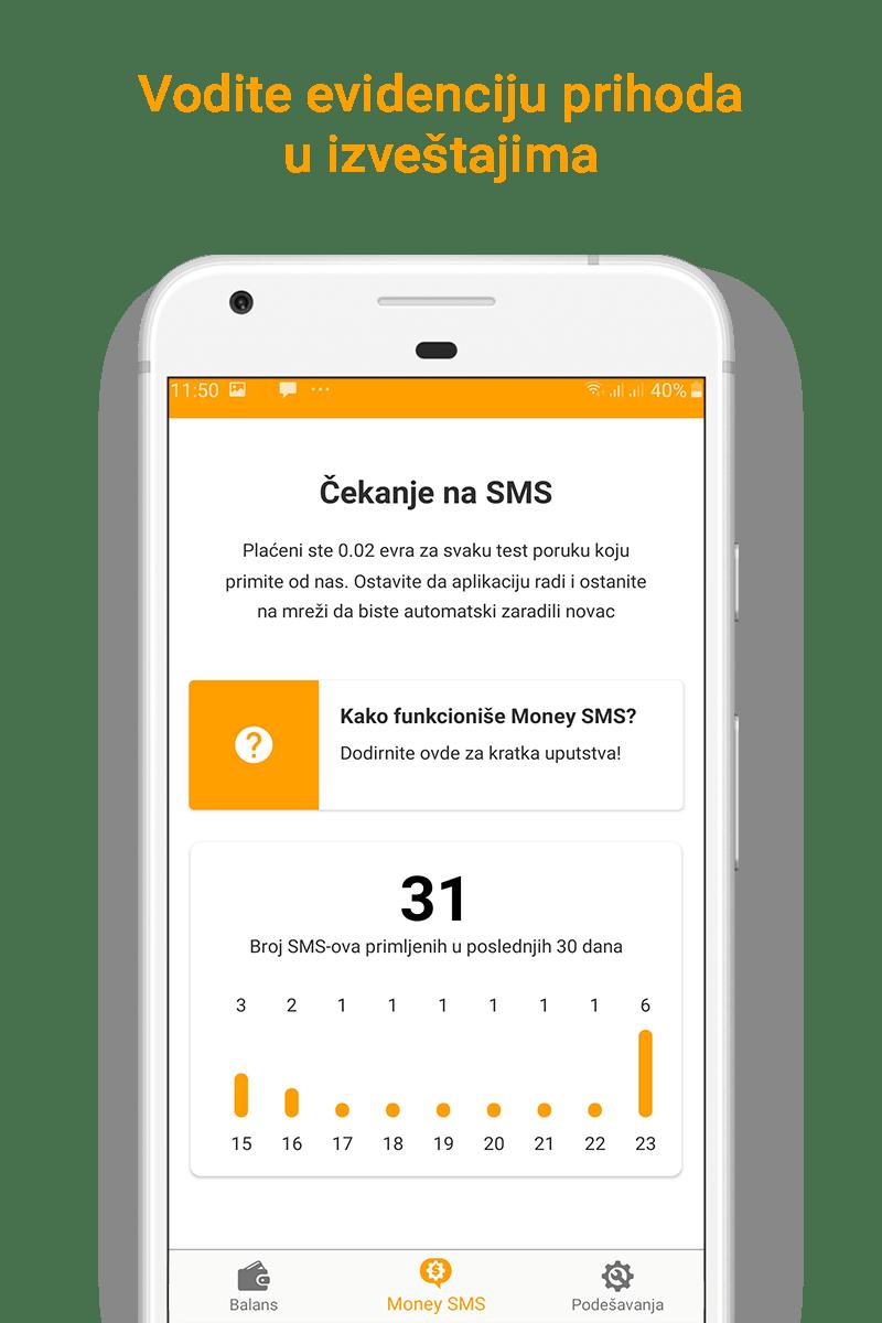 Money SMS app - Vodite evidenciju prihoda u izveštajima-picture